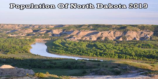 population of North Dakota 2019