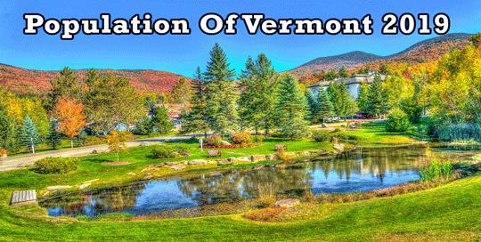 population of Vermont 2019